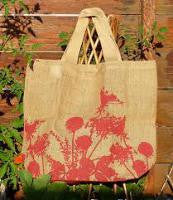 Jute Grocery Shopper - Red