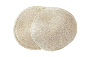 Breast Pads - 3 layers - silk/organic wool/silk - Disana 11 cm + 14cm