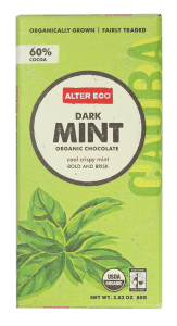 ALTER ECO Dark Mint Organic Chocolate 100% Fair Trade