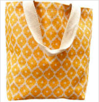 Jute Grocery Bag- Diamond Saffron