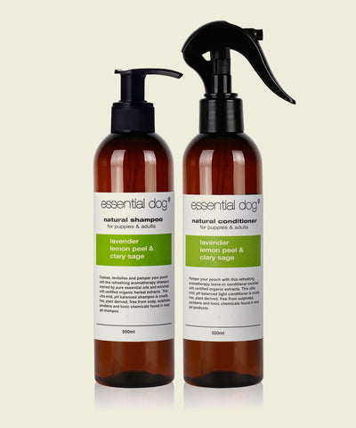 Natural Dog Shampoo & Conditioner SAMPLE PACK Lavender Lemon Sage 50ml