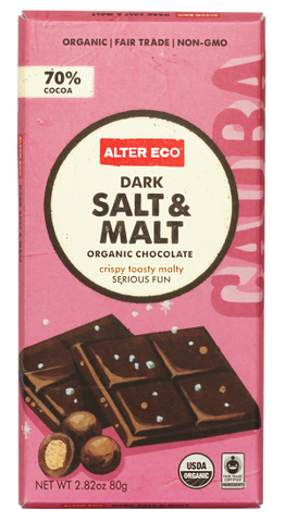 ALTER ECO Dark Salt & Malt Organic Chocolate 100% Fair Trade