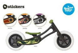 Wishbone Recycled Balance Bike - Cool Sticker Set