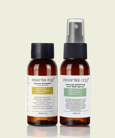 Natural Dog Sensitive Shampoo & Itch Spray SAMPLE PACK 50ml