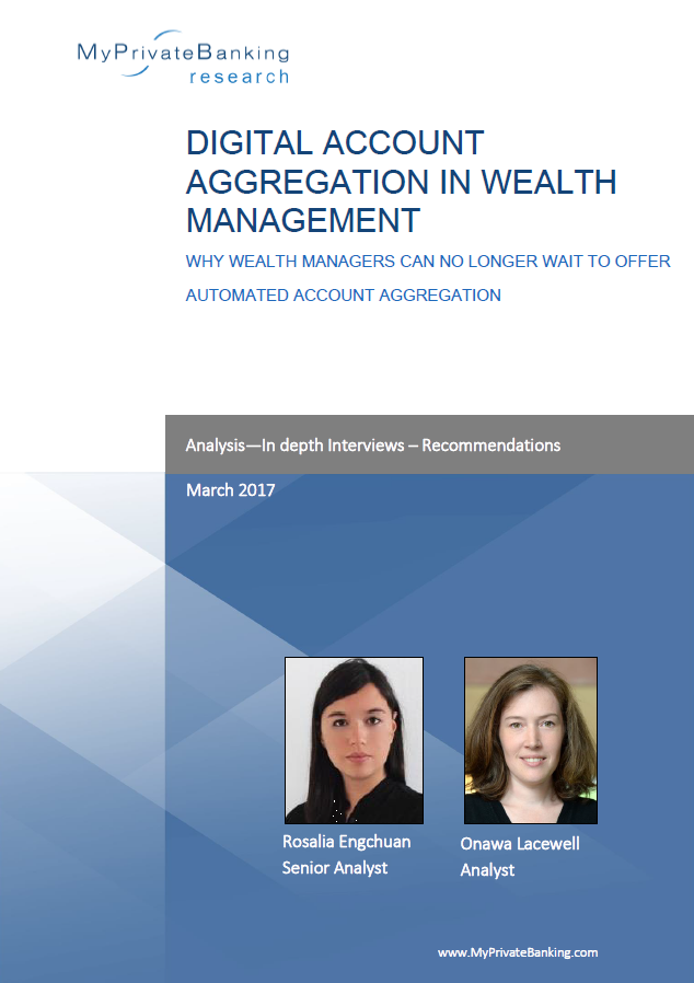 Digital Account Aggregation in Wealth Management-Research Report-MyPrivateBanking Research