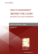 Wealth Management 'Behind the Login' - Decoding the Client Experience-Research Report-MyPrivateBanking Research
