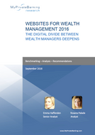 Websites for Wealth Management - The Digital Divide between Wealth Managers Deepens-Research Report-MyPrivateBanking Research