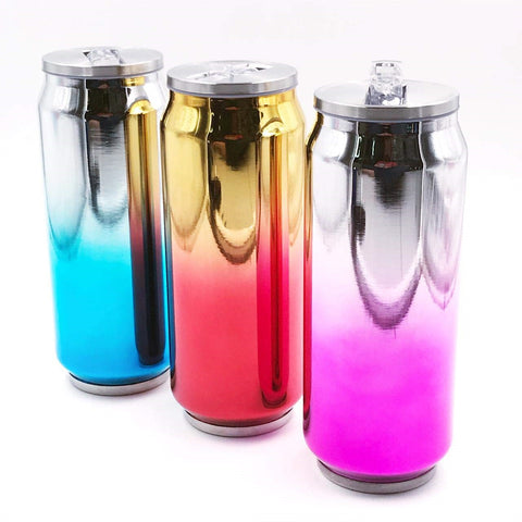 300ml Ombre Stainless Steel Can Cup With Straw