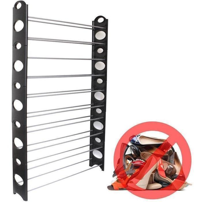 10 Tier Stackable Shoe Rack | Shop Online | Snatcher