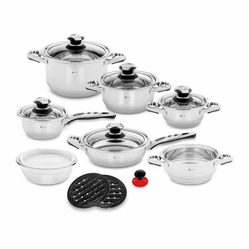 16 Piece Stainless Steel Cookware Set | Shop Online | Snatcher
