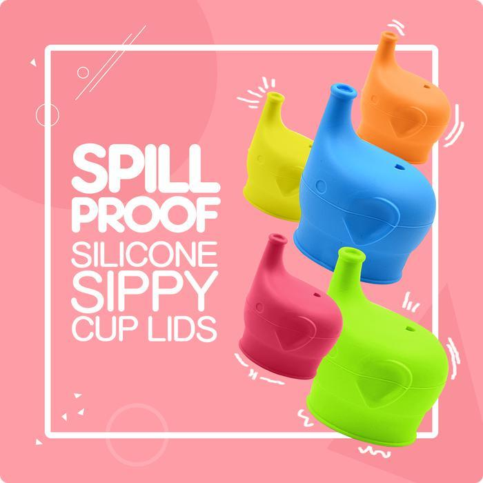 2-for-1 Elephant Silicone Sippy Cup Lids | Shop Online | Snatcher