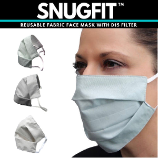 2X Elasticated Fabric Face Mask Health & Beauty