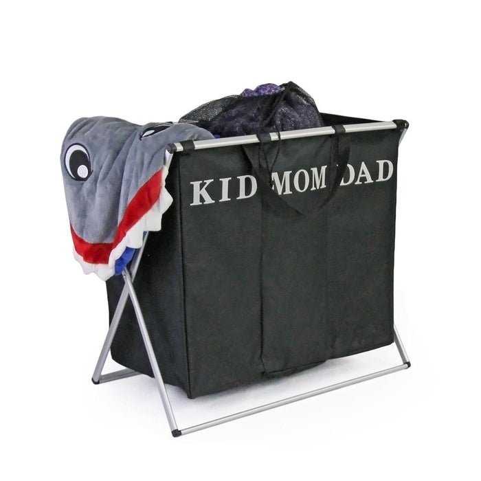3 In 1 Black Laundry Hamper - Kid/Mom/Dad | Shop Online | Snatcher