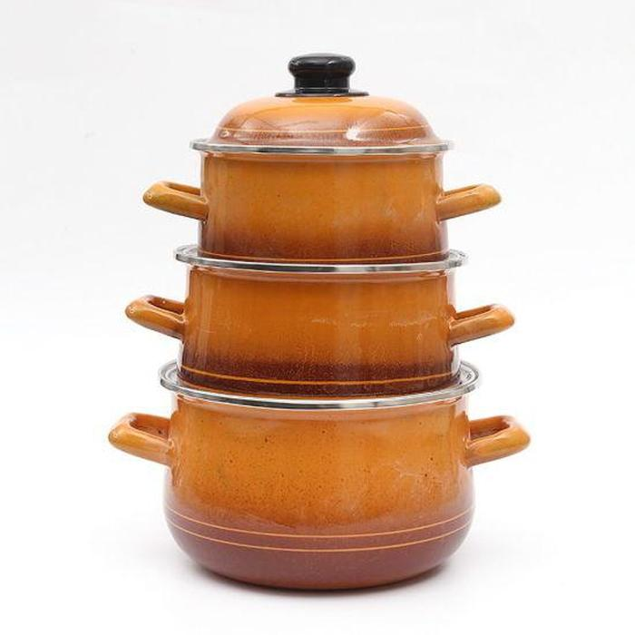 3 Piece Enamel Pot Set | Shop Online | Snatcher