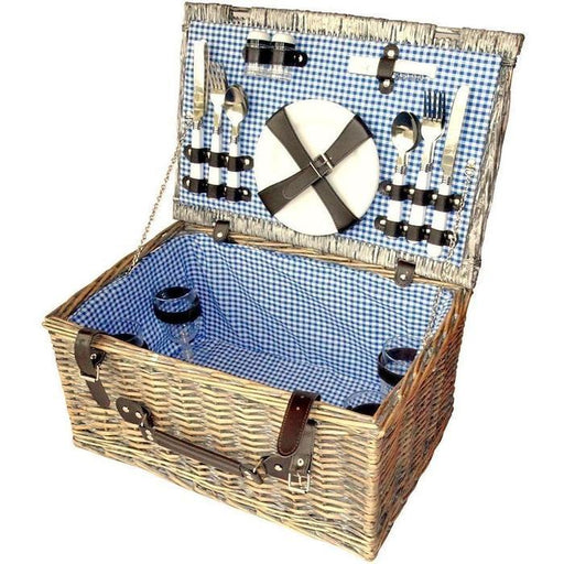4 Person Wicker Picnic Basket | Shop Online | Snatcher