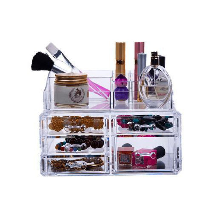 5 Drawer Acrylic Cosmetic Storage Box | Shop Online | Snatcher
