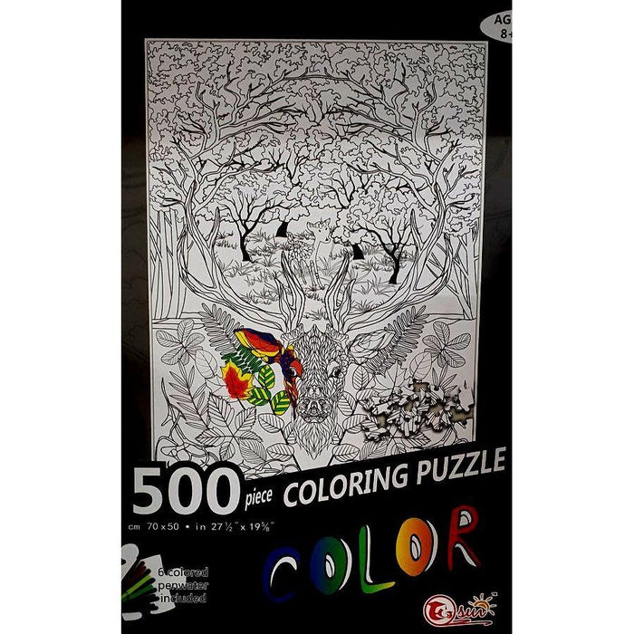 500 Piece Coloring Puzzle - Deer