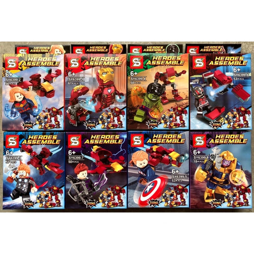 8-in-1 Interlocking Avengers Figurines (Set of 8) | Shop Online | Snatcher