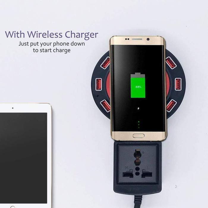 8-Port USB Charger And Wireless Charger | Shop Online | Snatcher