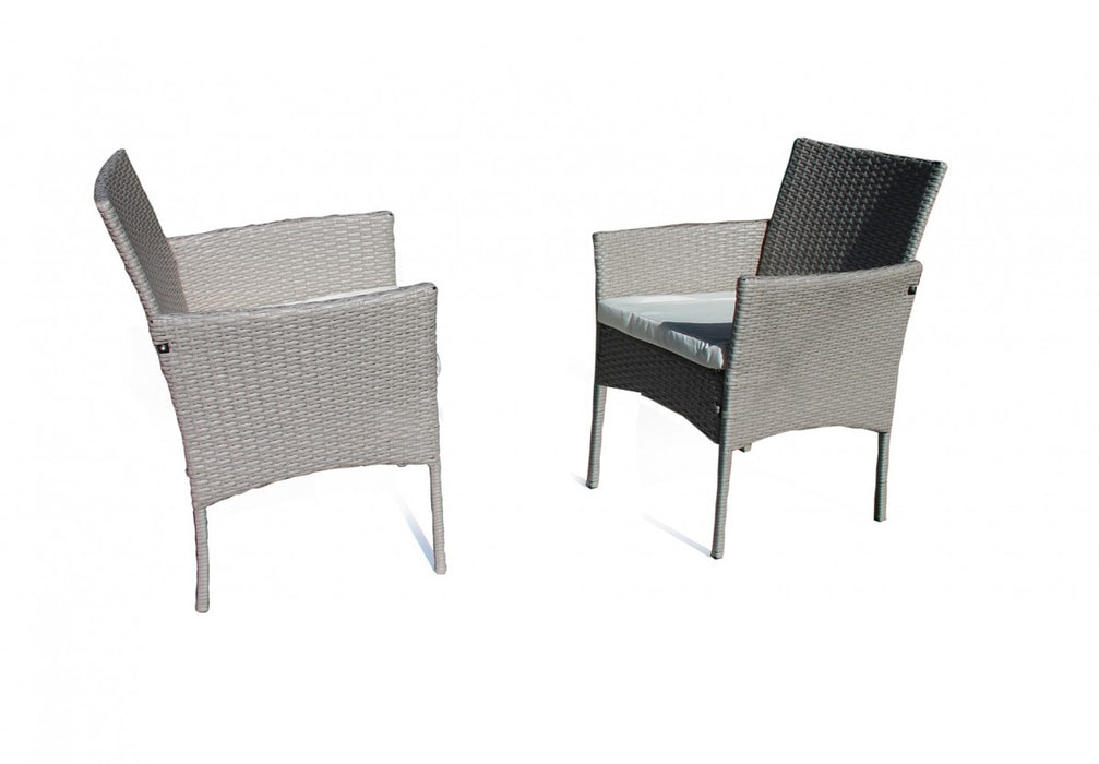 Lifestyle Outdoor Rattan 4 Piece Set - Light Grey/Cream