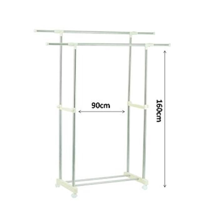 Adjustable Double Pole Clothes Hanger | Shop Online | Snatcher