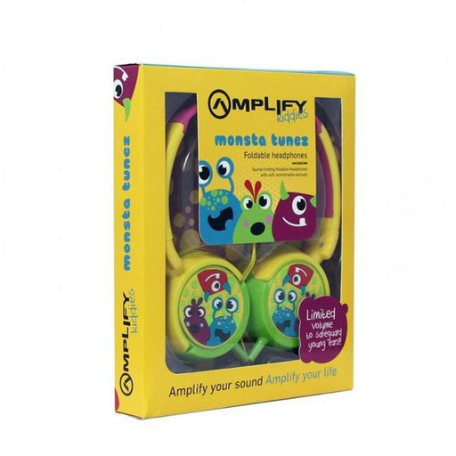 Amplify Kiddies Foldable Headphones -Monsta Tunez | Shop Online | Snatcher