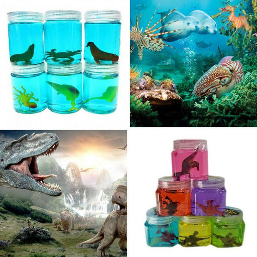 Animal Slime Pack Of 4 - Sea Creatures And Dinosaurs | Shop Online | Snatcher