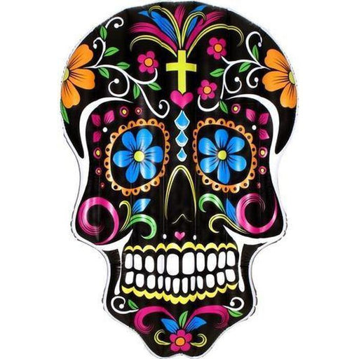Black Sugar Skull Pool Float | Shop Online | Snatcher