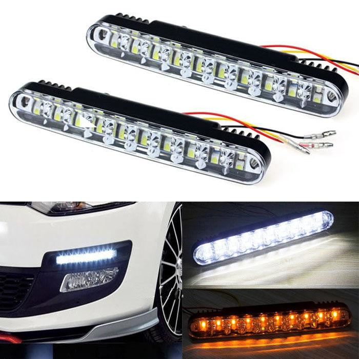 9 LED DRL Running Lights