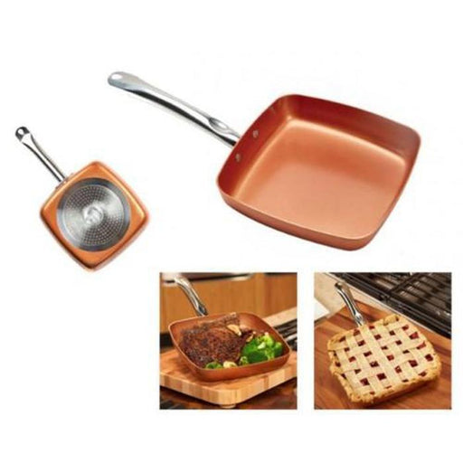 Copper Chef - 24cm Square Pan - Non Stick Coating | Shop Online | Snatcher