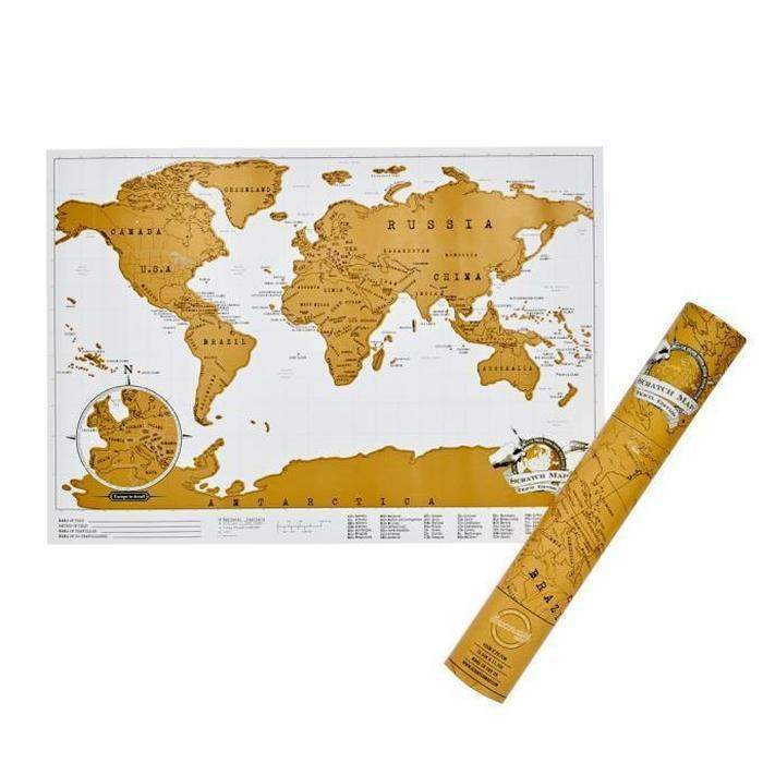 Deluxe Scratch World Map | Shop Online | Snatcher