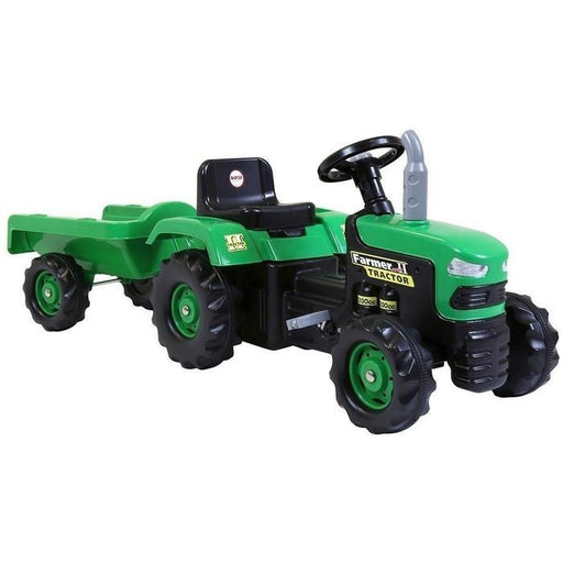 DOLU Green Pedal Tractor With Trailer | Shop Online | Snatcher