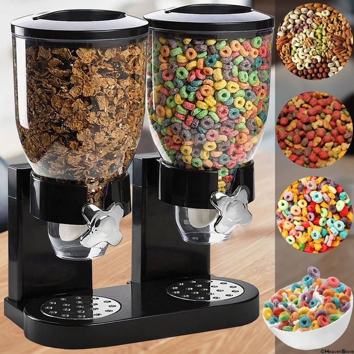 Double Cereal Dispenser - Black | Shop Online | Snatcher
