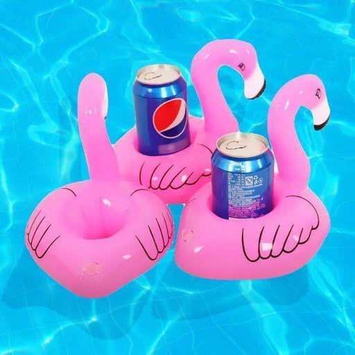 Flamingo Inflatable Cup Holders (Pack Of 4) | Shop Online | Snatcher