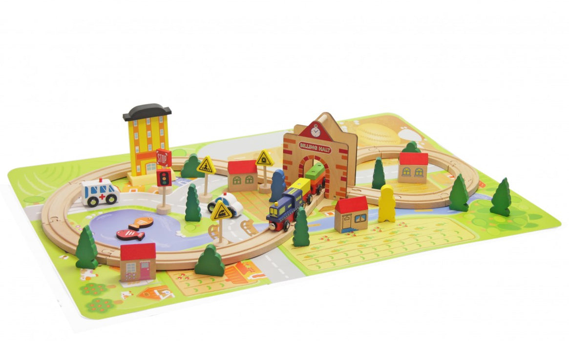 Jeronimo - Wooden Train Set 54pc