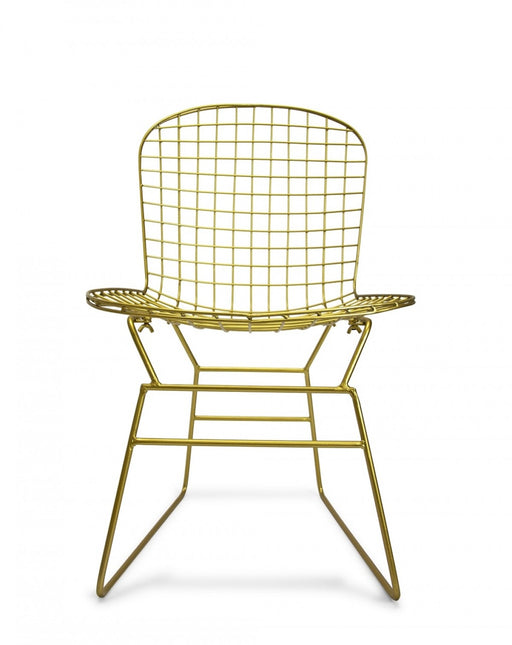 Gold Vine Metal Chair