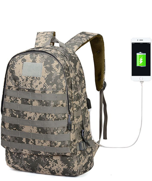 Camouflage Backpack With Charging Port