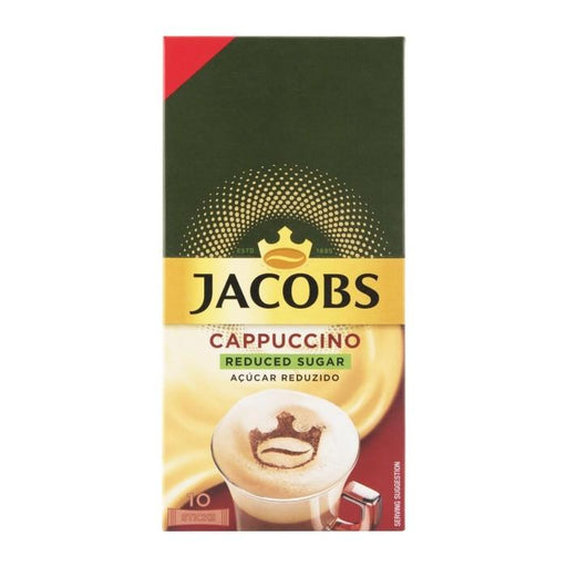 Jacobs Instant Cappuccino Reduced Sugar - 10 Sticks | Shop Online | Snatcher
