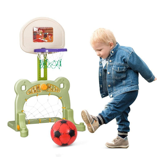 Kids Adjustable 2-In-1 Basketball And Football Set | Shop Online | Snatcher