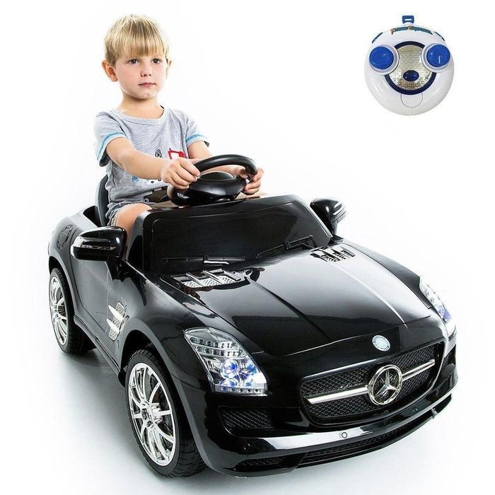 Kids Ride On Black Mercedes SLS AMG Was