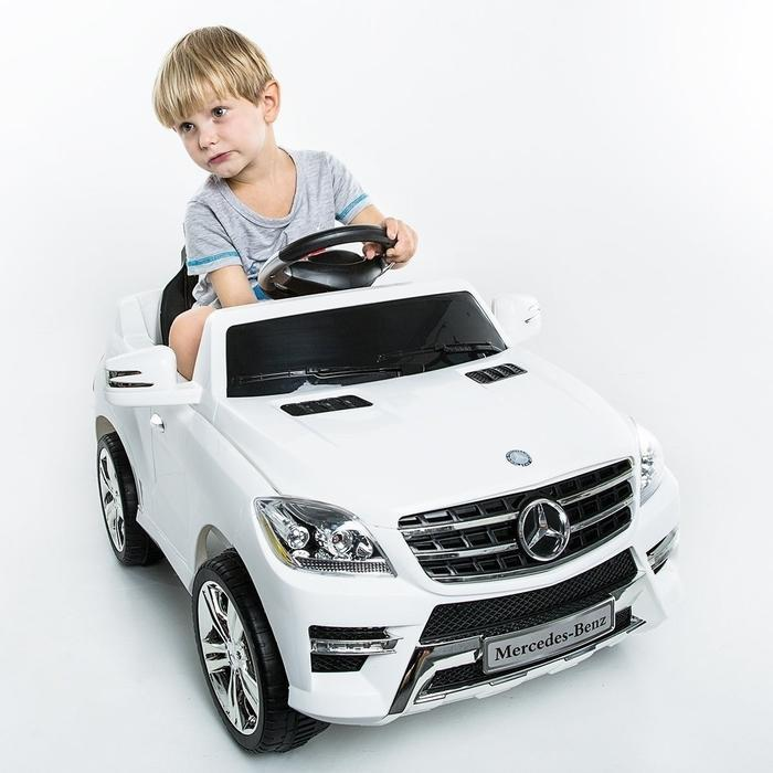 Kids Ride On - White Mercedes ML350 | Shop Online | Snatcher