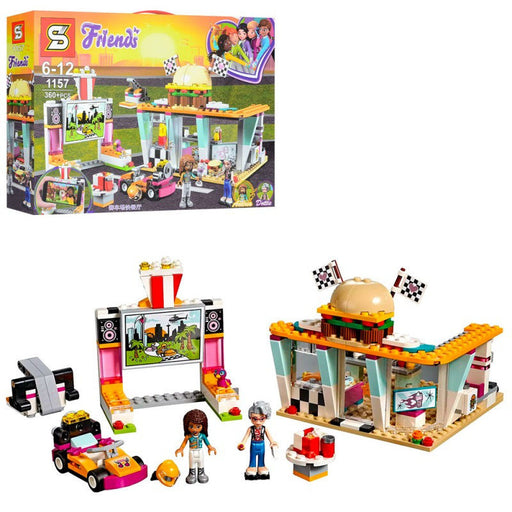 Friends- Race Track Diner Building Blocks Set