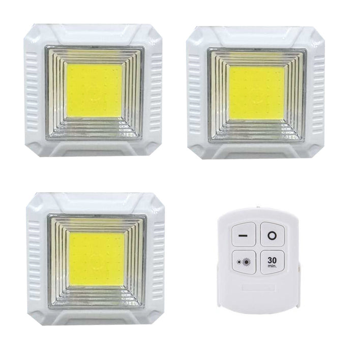 COB Lights With Remote Control - Set Of 3