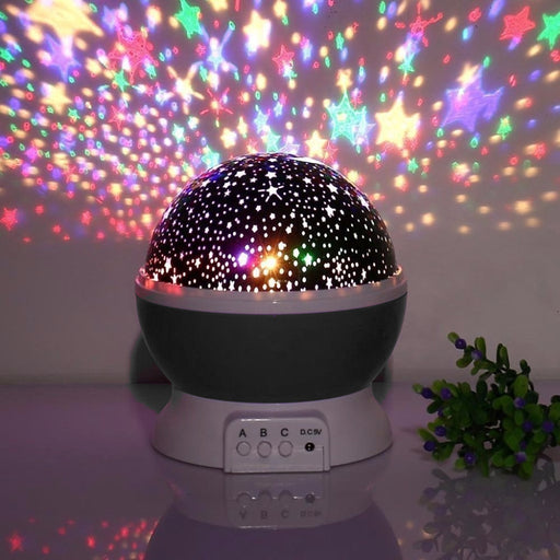 Star Master Rotating Projection Lamp - Black