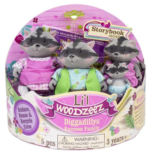 Lil' Woodzeez - The Diggadilly Raccoon Family | Shop Online | Snatcher