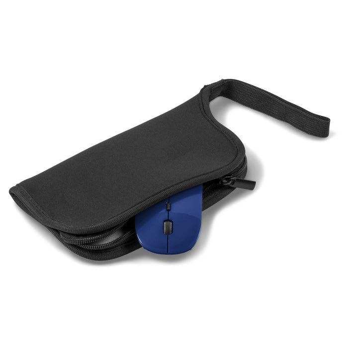 Wireless Mouse And Zipper Mouse Pad Combo