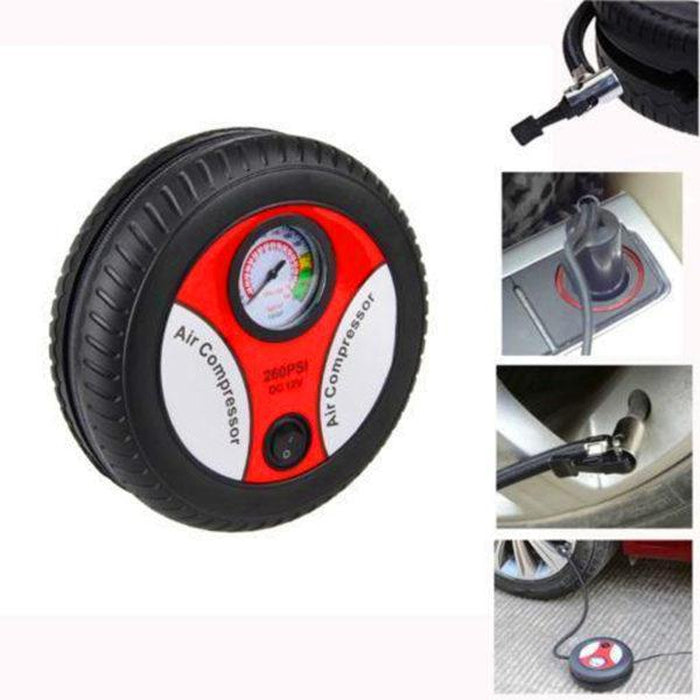 Mini Portable Electric Air Compressor Pump Car Tire Inflator | Shop Online | Snatcher