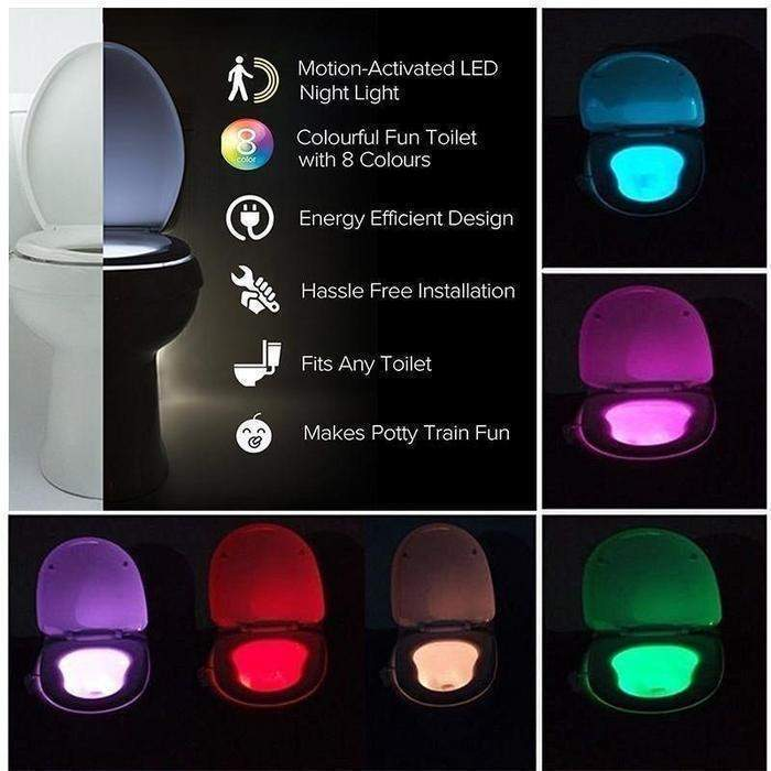 Motion Activated Toilet Nightlight | Shop Online | Snatcher