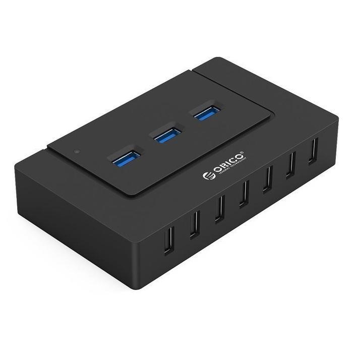 Orico 10 Port 7xUSB2.0 3xUSB3.0 Hub Black | Shop Online | Snatcher