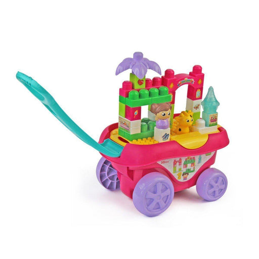 Pink Pull-Along Blocks Wagon | Shop Online | Snatcher